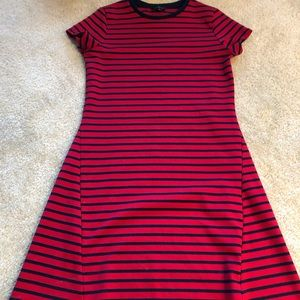 The Limited A line Navy/Red dress